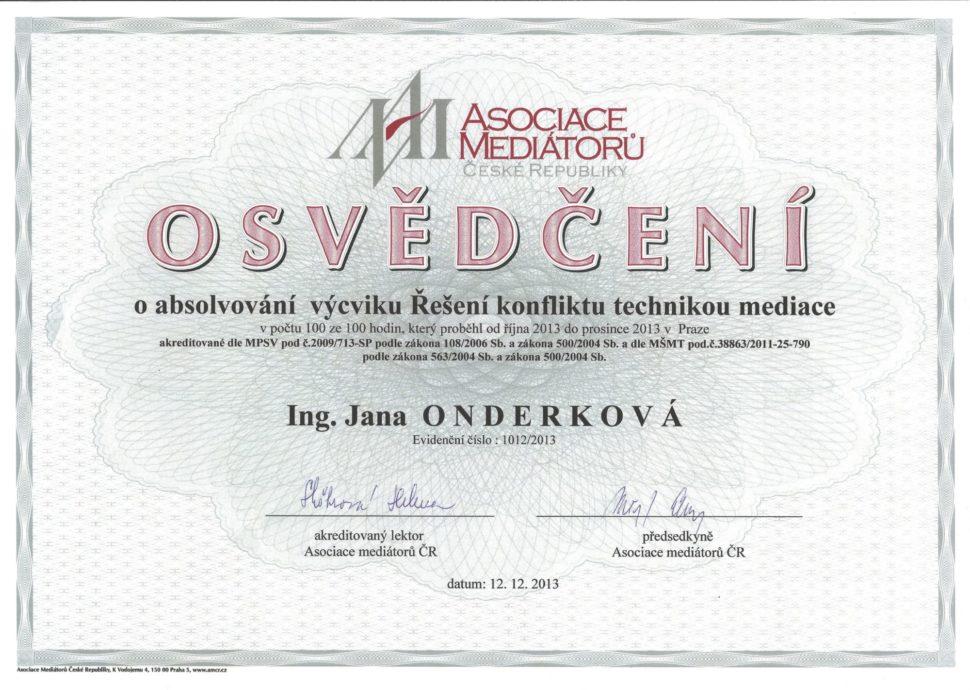 Mediátor Asociace Mediátorů ČR