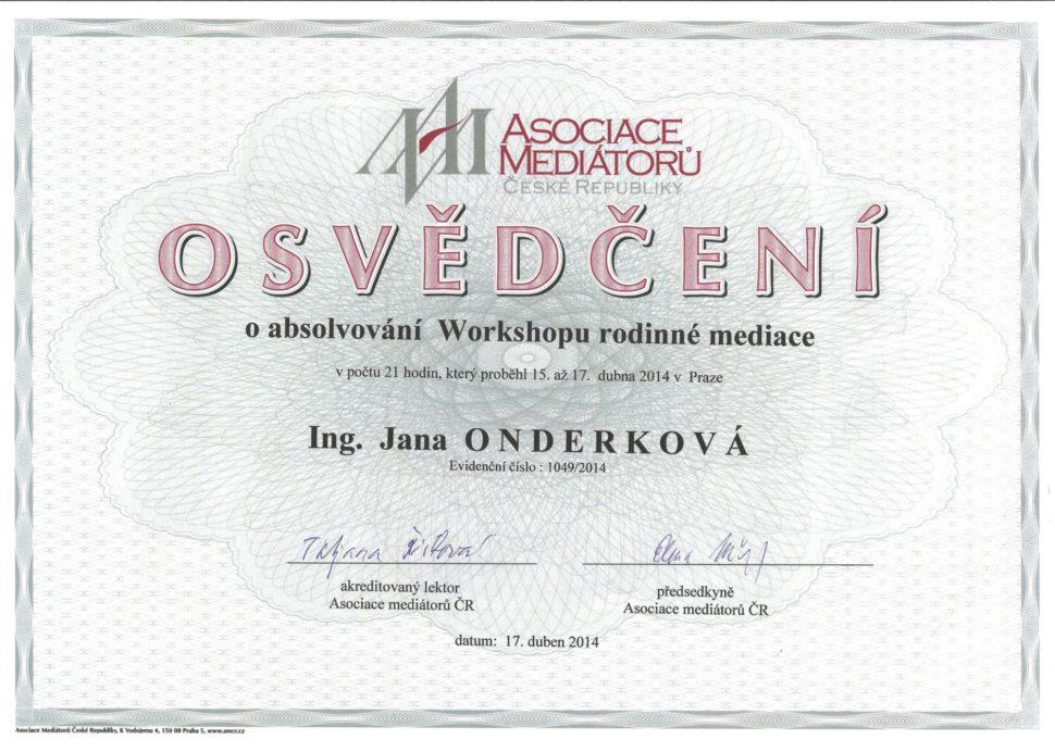 Rodinná mediace, Asociace mediátorů ČR